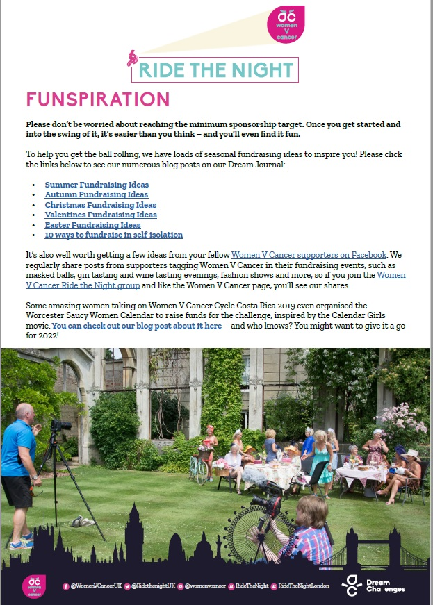 Fundraising ideas for every season